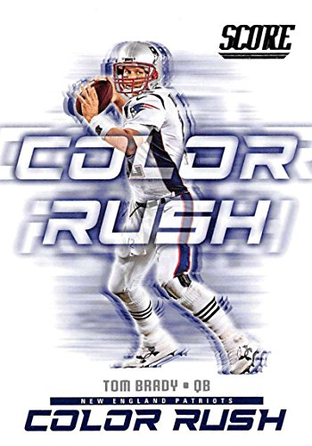 2018 Score Color Rush #1 Tom Brady New England Patriots Football Card