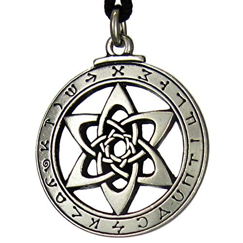 Pewter Astrologer's Star Pendant Angel Jewelry
