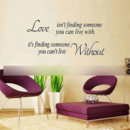 Love Without Quote Sticker Home Living Room Decor Vinyl Art Decals