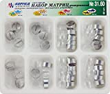 Dental Universal Kit of Transparent Contoured Matrix Matrices with Clamp 32 pcs Cormed