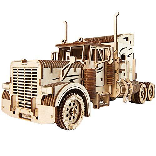- UGears Models 3-D Wooden Puzzle - Mechanical Heavy Boy Mac Truck VM-03