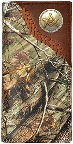 Custom Badger Masonic Square and Compasses Long Realtree AP Camo Wallet