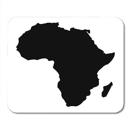 Cartina Dell Africa In Bianco E Nero.Allenprint Forma Contorno Bianco Mappa Dettagliata Dell Africa Continente In Nero Silhouette Madagascar Astratto Premium Tappetino Per Mouse Da Gioco Di Moda 30x25 Cm Amazon It Elettronica
