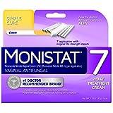 Monistat 7 Vaginal Antifungal Cream with Disposable Applicators, 1.59-Ounce Tube