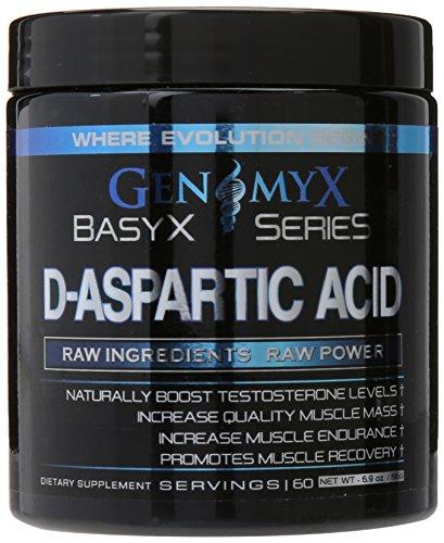 Genomyx D-Aspartic Acid Supplement, 6.9 Ounce