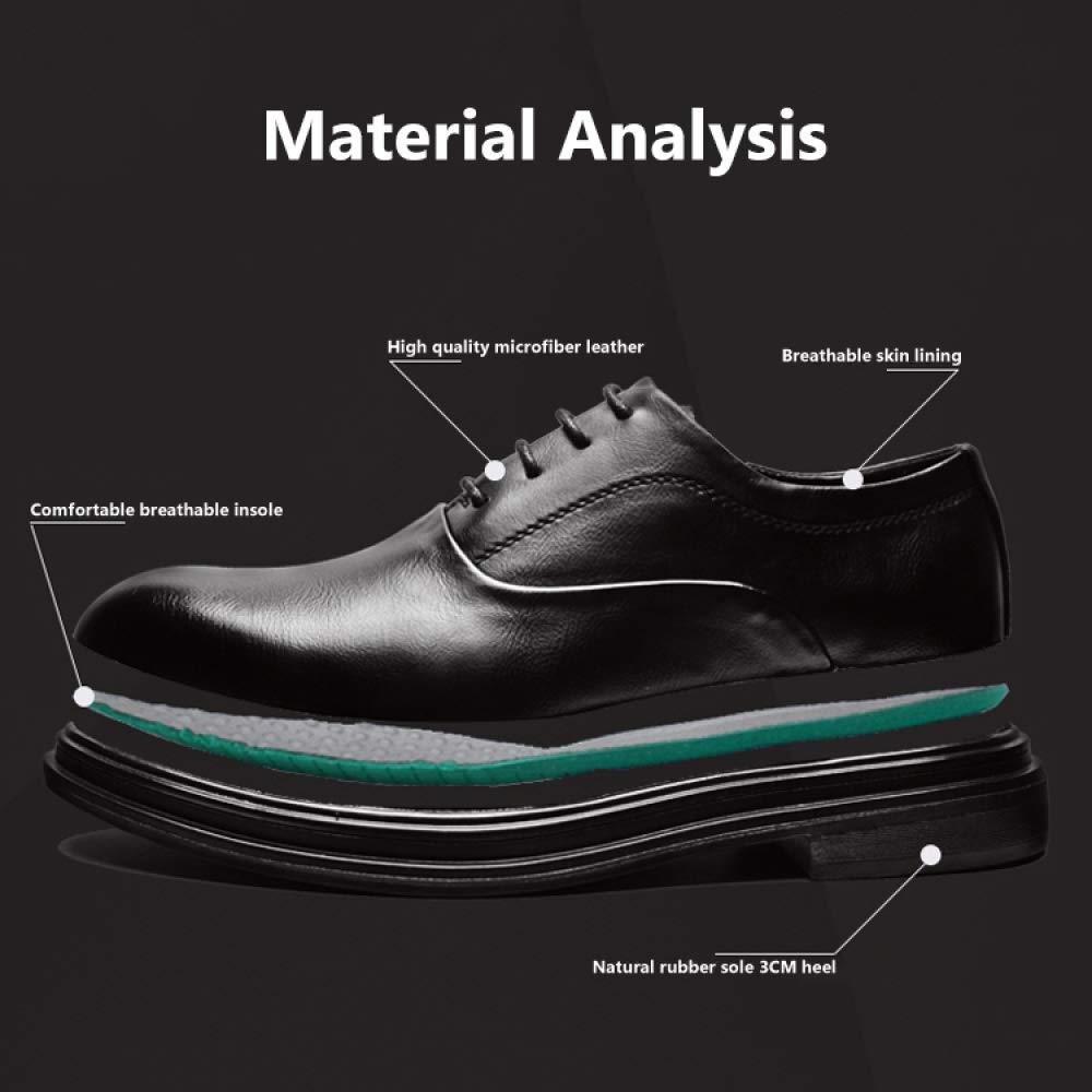 NBWE Herren Business Derby Schuhe Dressing Leder Toe 485 Tipp Toe Dicke Krawatten 485 Toe schwarz 925a0f