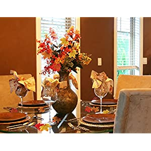 Moon Boat 500PCS Fall Artificial Maple Leaves Decorations - Thanksgiving Autumn Leaf Wedding Party Table Decor 4