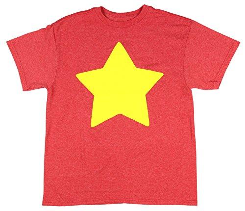 Steven Universe Star Big Boys' Red Heather Youth T-Shirt Cartoon Show Small ()