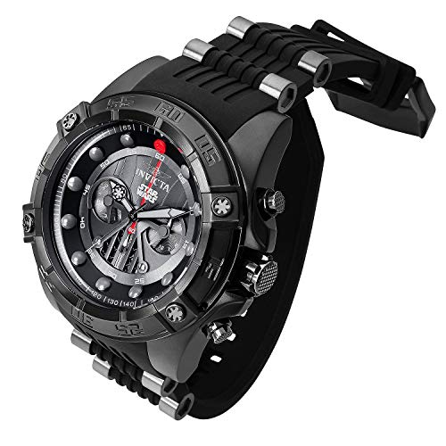 mm Darth Vader Limited Edition Chronograph Black SS Watch ()