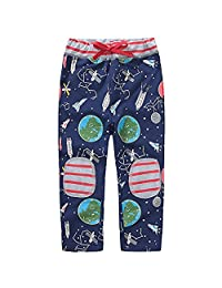 Baby Boys Sweatpants Cartoon Print Cotton Boys Pants Long Spring Autumn,Size 2-7T