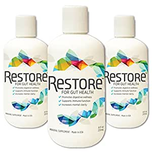 Biomic Sciences RESTORE For Gut Health | Restore 4 Life Trace Mineral & Lignite Liquid For Improved Wellness and Digestion Balance | 8 Ounces