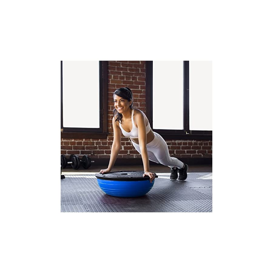 Best Choice Products Yoga Balance Exercise Ball w/ 2 Resistance Bands & Pump