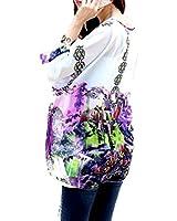 HP95(TM) Women's Bohemian Style Batwing Sleeve Chiffon Beach Loose Shirt