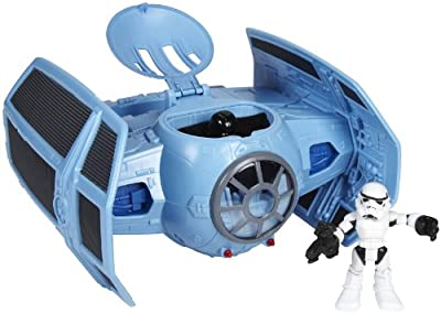 Star Wars Jedi Force Tie Fighter With Darth And Storm Trooper by Hasbro