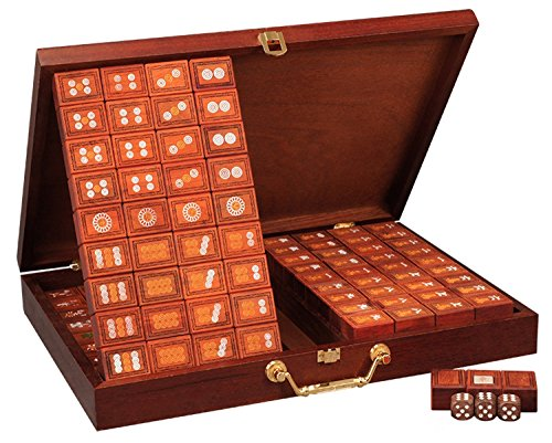 高品質麻將 Unique Rose Wood Mahjong Set 144 Wooden Tiles for Christmas / Chinese New Year / Birthday / Home Decoration / Only Sells at We Pay Your Sales Tax~ CM005 (Mahjong Set Taiwanese)