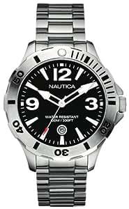 Nautica A14544G - Reloj analógico de cuarzo para hombre con correa de acero inoxidable, color plateado