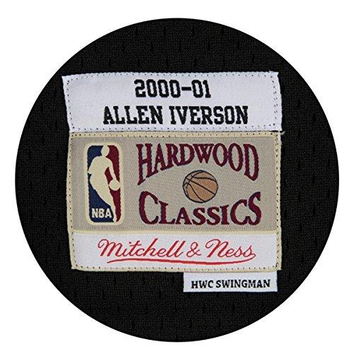 Black Allen Iverson Philadelphia 76ers Mitchell /& Ness NBA Throwback Jersey