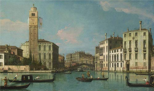 Polyster Canvas ,the Cheap But High Quality Art Decorative Art Decorative Prints On Canvas Of Oil Painting 'Studio Of Canaletto Venice Entrance To The Cannaregio ', 18 X 31 Inch / 46 X 77 Cm Is Best For Bathroom Artwork And Home Decor And Gifts