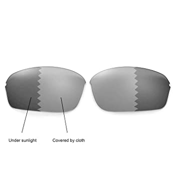 b58f0455857 Walleva Polarized Transition Photochromic Replacement Lenses for Oakley  Half Wire 2.0 Sunglasses