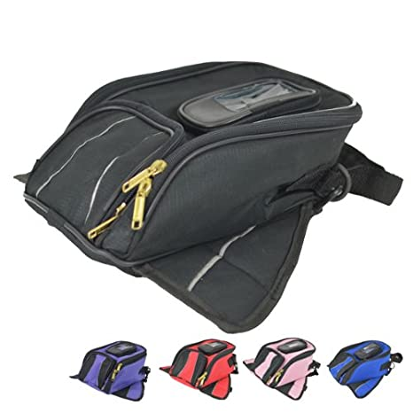 83fa4aa3e8 Amazon.com: Small Magnetic Motorcycle Tank Bags Blue with Cell phone  pocket: Automotive
