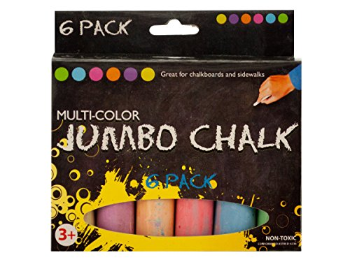 bulk buys Multi-Color Jumbo Chalk Set - Pack of 72