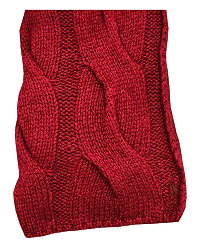 Polo Ralph Lauren Womens Cable Knit Lambswool Blend Pony Logo Scarf (One size, ()