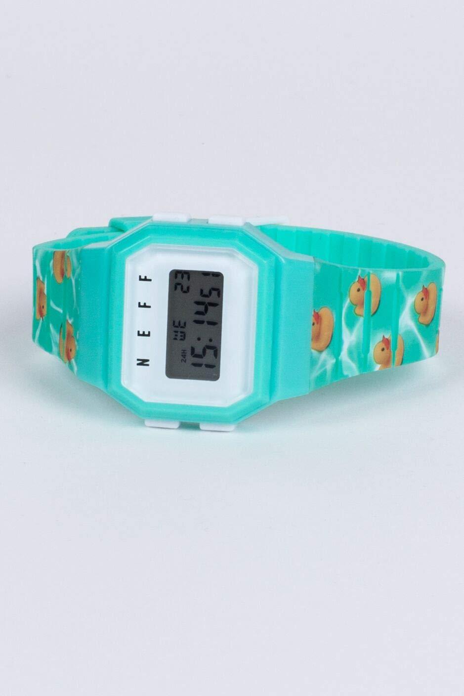 neff Men's Quartz Sport Watch with Plastic Strap, Multi, 20 (Model: NF0252-3) by NEFF