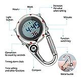 IMIKEYA Microlight Clip Watch Stainless Steel