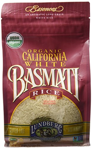 Free Rice Gluten Basmati - Lundberg Family Farms Organic Basmati Rice, California White, 32 Ounce (Pack of 6)