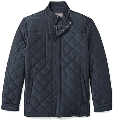 The Plus Project Men's Quilted Coat With Large Buttons Pockets