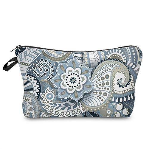 Cosmetic Bag for Women,Deanfun Mandala Flowers Waterproof Makeup Bags Roomy Toiletry Pouch Travel Accessories Gifts (51559)