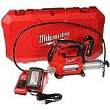 Milwaukee 2646-22CT M18 18-Volt Lithium-Ion Cordless 2-Speed Grease Gun 2-Battery Kit
