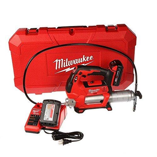 Milwaukee 2646-22CT M18 18-Volt Lithium-Ion Cordless 2-Speed Grease Gun 2-Battery Kit by Milwaukee