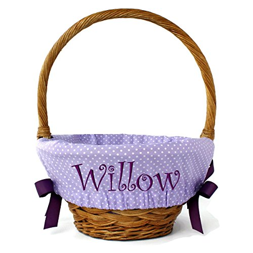 Personalized Tiny Polka Dot Easter Basket Liner, 5 colors, 2 sizes, Liner Only