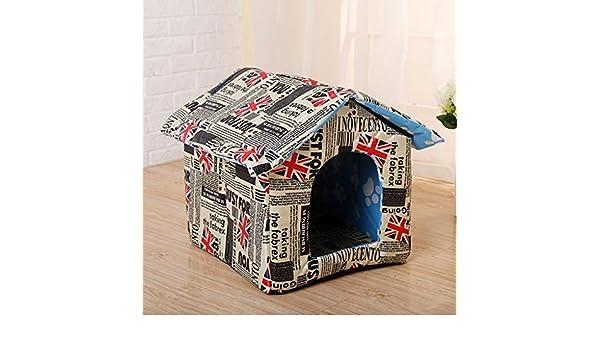 Lonshi Casa para Mascotas Casa para Perros Casa para Gatos Casa para Mascotas al Aire Libre Casa para Mascotas Limpieza Plegable: Amazon.es: Hogar