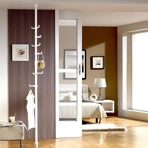 Prince Hanger Organizer Single Pole, White - Pole Hangers