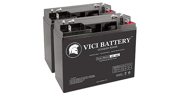 Amazon.com: Batería VICI VB18-12 – 12 V 18 AH de repuesto ...