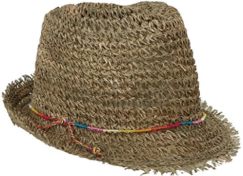 bow Twisted Seagrass Fedora Summer Trilby Hat (Twisted Seagrass Straw Hat)