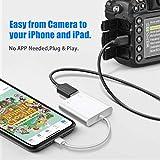 USB Camera Adapter for iPhone iPad,AkHolz USB OTG