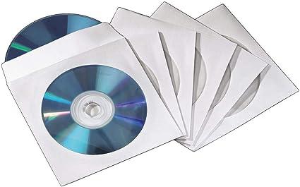 Hama CD/DVD Paper Double Sleeves, White, 50 pcs./Pack 2 Discos Blanco - Fundas para Discos ópticos (White, 50 pcs./Pack, 2 Discos, Blanco, Papel): Amazon.es: Informática