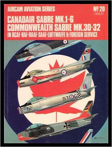 Book Canadair Sabre Mk.I/VI: Commonwealth Sabre Mk.30-32 in R.C.A.F., R.A.F., R.A.A.F., S.A.A.F., Luftwaffe and Foreign Service v. 2 (Aircam Aviation)