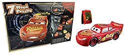 Disney Pixar Cars 3 Smart Steer Lightning Mcqueen Vehicle (Bundle With Puzzle)
