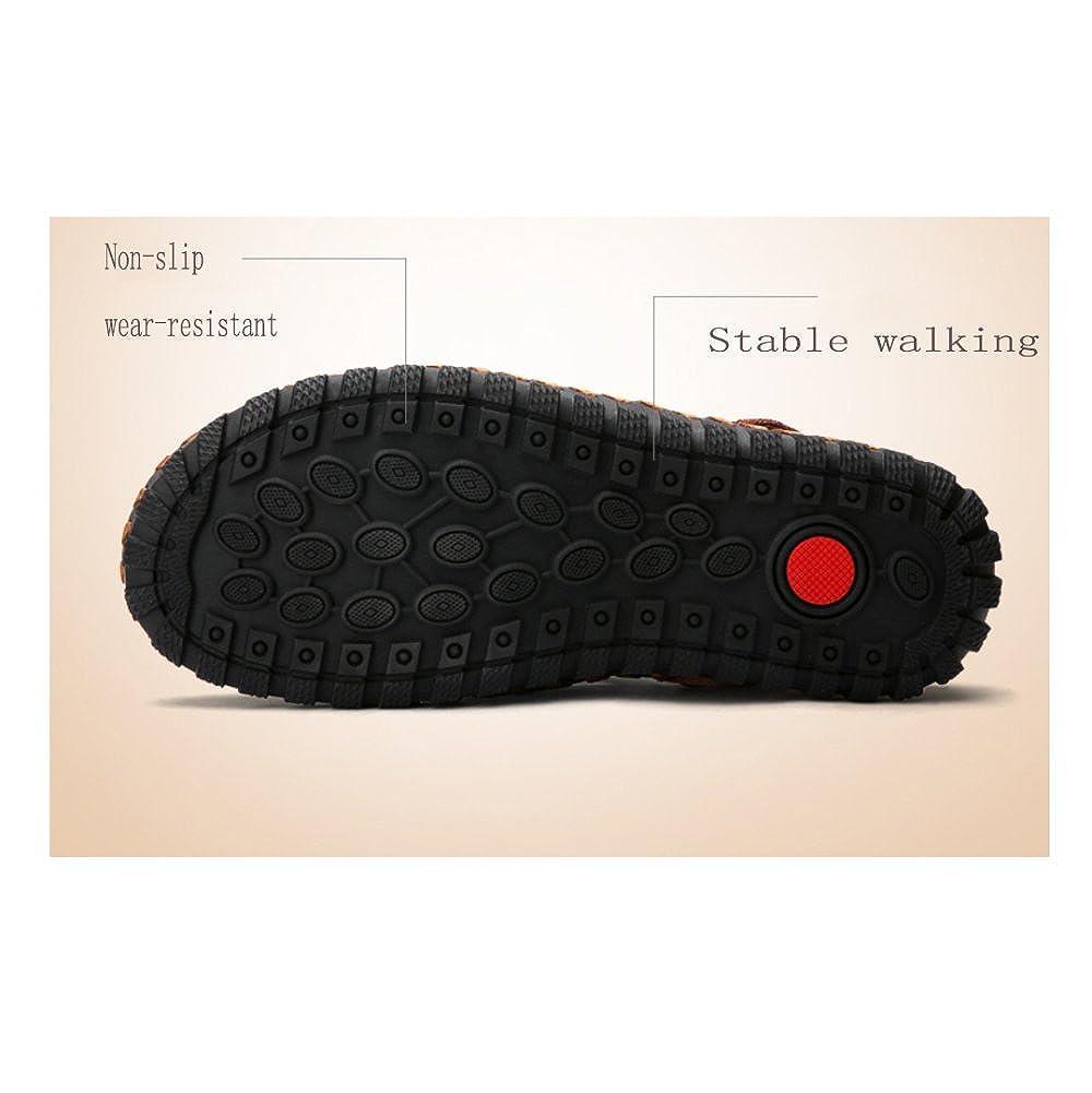 LYZGF Männer Hand Jugend Casual Sandalen Mode Hand Männer Genäht Atmungsaktiv Zwei Gut Hausschuhe schwarz 0e30b4
