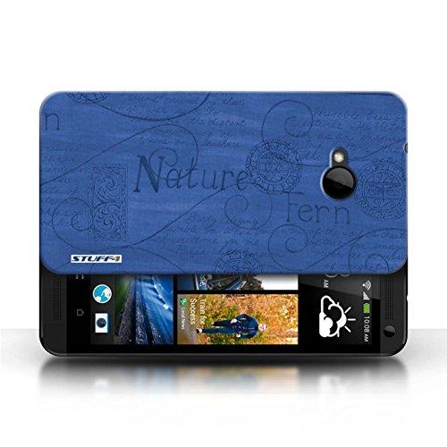 Etui / Coque pour HTC One/1 M7 / Bleu conception / Collection de Motif Nature