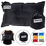 ONWEGO Camping Pillow/Small Inflatable Pillow- 20in x 12in, 10.5oz, Self Inflating Air Pillow, Lightweight - Best gear for Outdoor Trips, Backpacking, Hiking, Beach, Travel, Motorcycle, Car