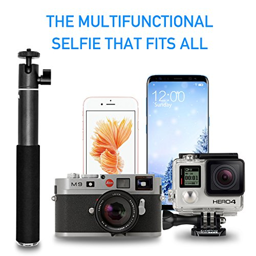 Selfie Stick, UBeesize Extendable Monopod with Tripod Stand and Wireless Shutter Remote for iPhone, Samsung, other Android phones, digital cameras and GoPro by UBeesize (Image #4)