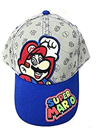 Baseball Cap - Nintendo Super Mario - Gray/Blue Kids Hat