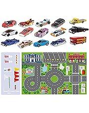 JINGLING Adventskalender 2021 voor kinderen, Minis adventskalender, auto adventskalender voor jongens, 24 stuks, verrassingen, decoratie, geschenkdoos, party, Kid Favor