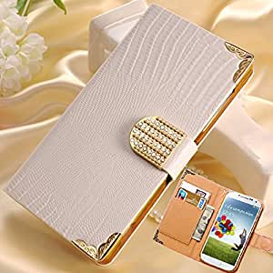 Luxury S4 Wallet Flip Cover Shining Crystal Bling PU Leather Case For Samsung Galaxy S4 i9500 Phone Bag Rhinestone --- Color:S4 rose