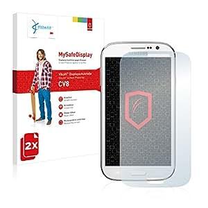 2x Vikuiti MySafeDisplay protector de pantalla CV8 de 3M para Samsung Galaxy Grand Neo I9060